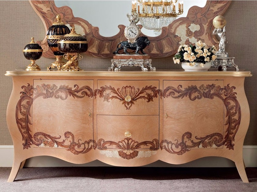 Luxury furniture classic radica briar root dresser - Bella Vita Collection - Modenese Gastone