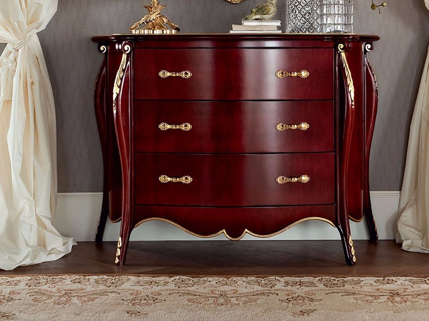 Amazing polished luxury hardwood sideboard and mirror - Bella Vita Collection - Modenese Gastone