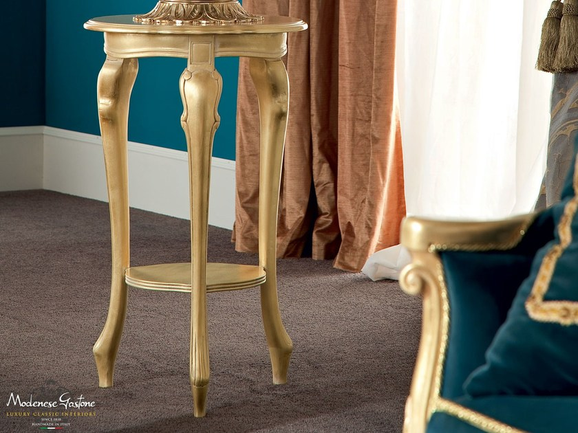 Vase holder gold leaf applications furniture - Bella Vita Collection - Modenese Gastone