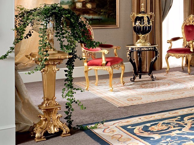 Solid wood classic living room with carved tea table - Bella Vita Collection - Modenese Gastone