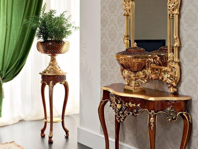 Luxury classic walnut vase holder - Bella Vita Collection - Modenese Gastone