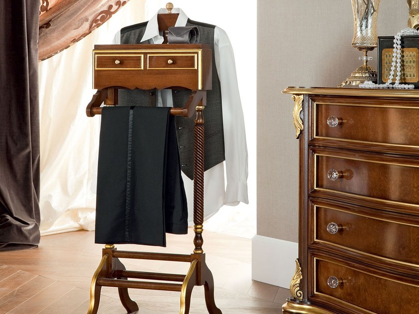 Clothes rack luxury valet stand with two drawers - Bella Vita Collection - Modenese Gastone
