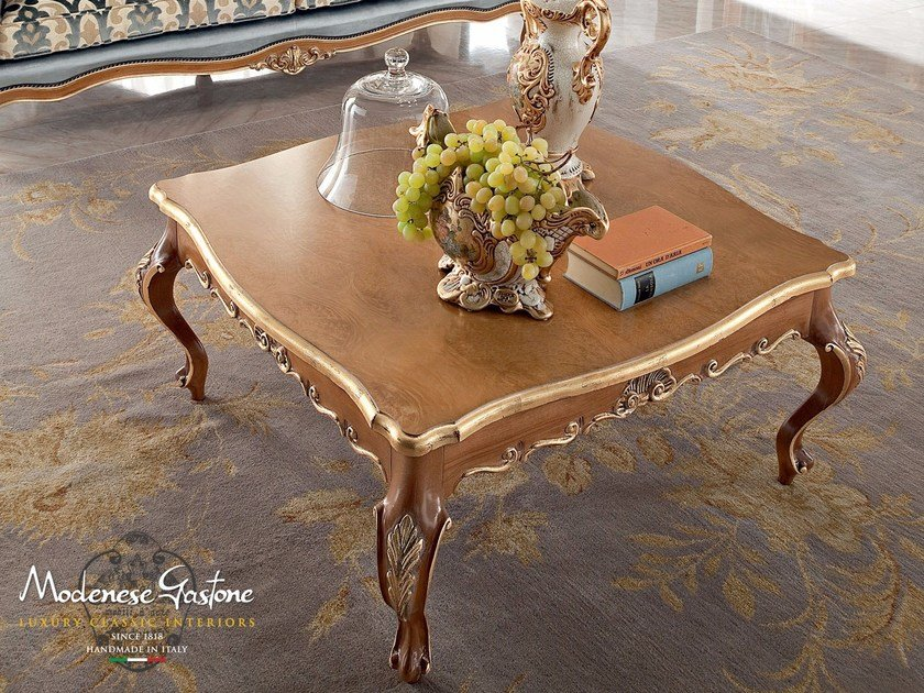 Low square wooden coffee table 13667 | Coffee table - Modenese Gastone group