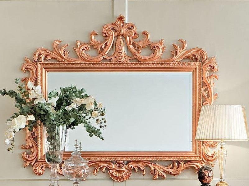 Rectangular wall-mounted framed mirror 13669 | Mirror by Modenese Gastone