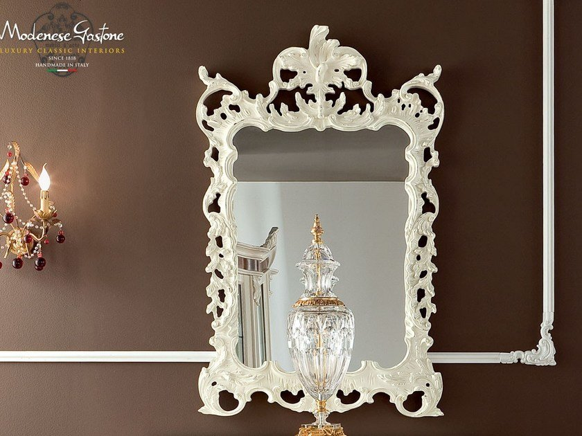 Rectangular wall-mounted framed mirror 13677 | Mirror - Modenese Gastone group