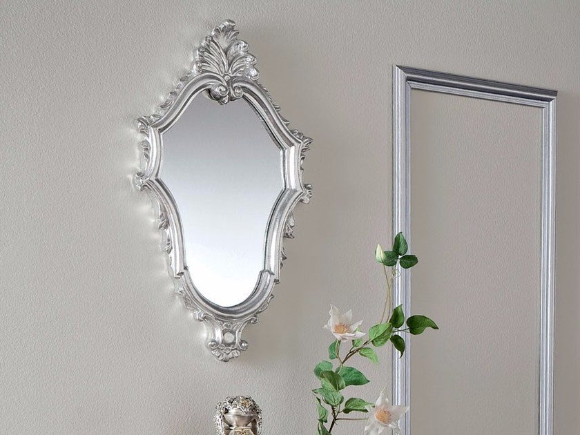 Wall-mounted framed mirror 13687 | Mirror by Modenese Gastone
