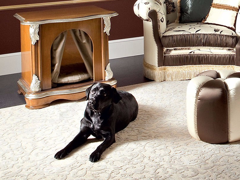 Classic hardwood kennel pet house Italian furniture - Bella Vita Collection - Modenese Gastone
