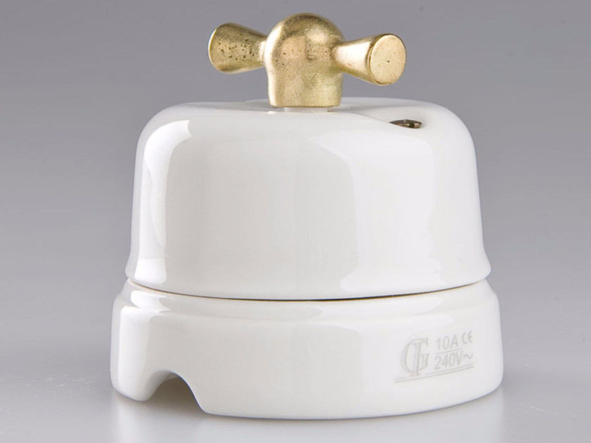 Electrical socket WHITE ITALY - 14 - GI Gambarelli