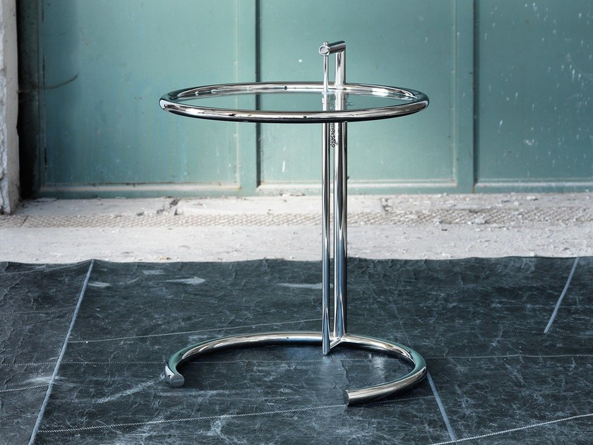 Crystal and stainless steel coffee table 1409 | Coffee table - Domingo Salotti
