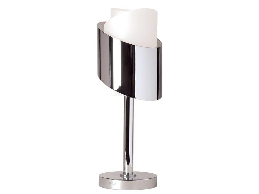 Handmade metal table lamp 159 | Table lamp by Jean Perzel