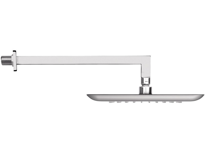 Wall-mounted brass overhead shower with arm 15Q-10 | Overhead shower - Rubinetterie Mariani