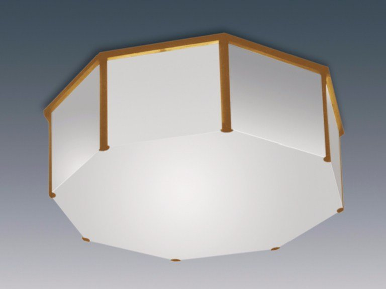 Direct light glass ceiling light 167 | Ceiling light by Jean Perzel