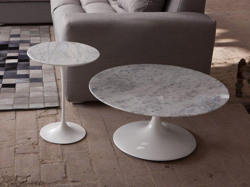 Low round Carrara marble coffee table 1769/4 - 3 | Carrara marble coffee table - Domingo Salotti