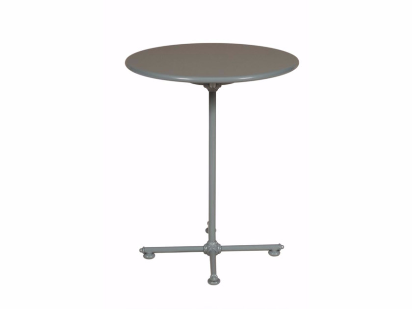 Round aluminium garden table 1800 BISTROT | Round table by Tectona
