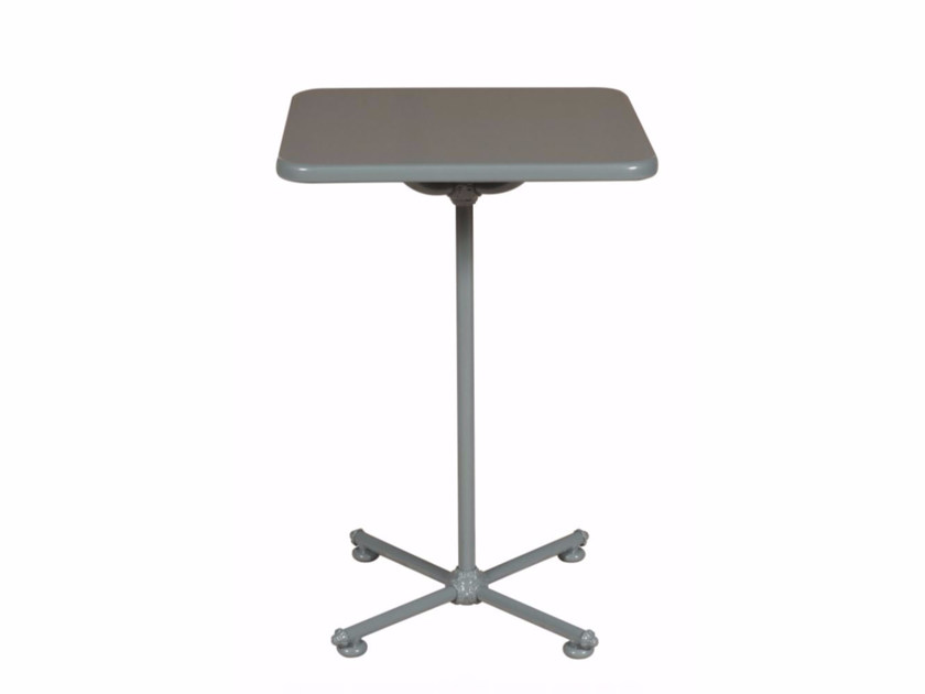 Square aluminium garden table 1800 BISTROT | Square table - Tectona
