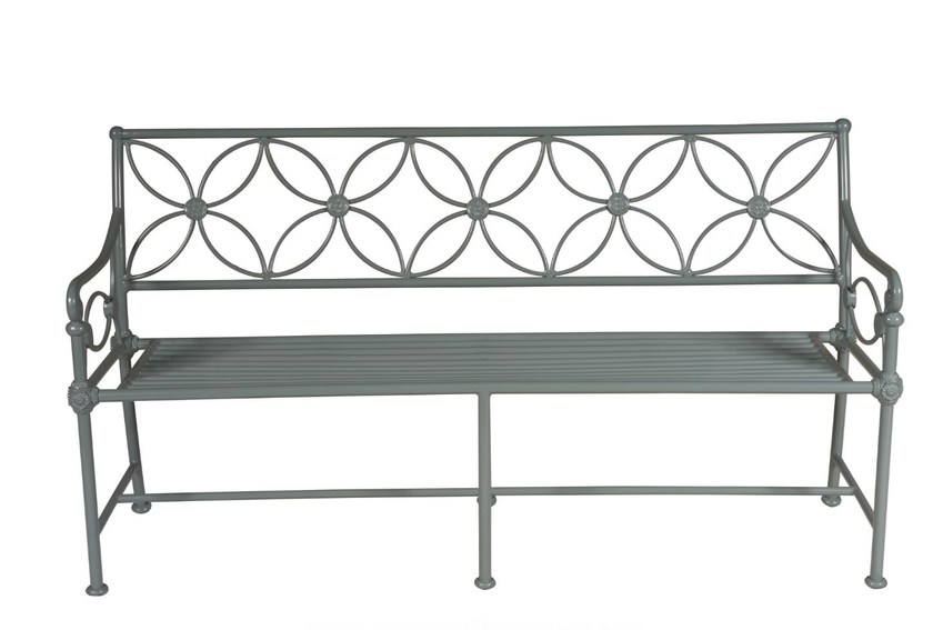 Garden bench with armrests 1801 - Tectona