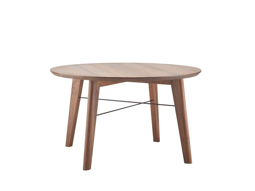 Round wooden coffee table 1860 | Round coffee table - THONET