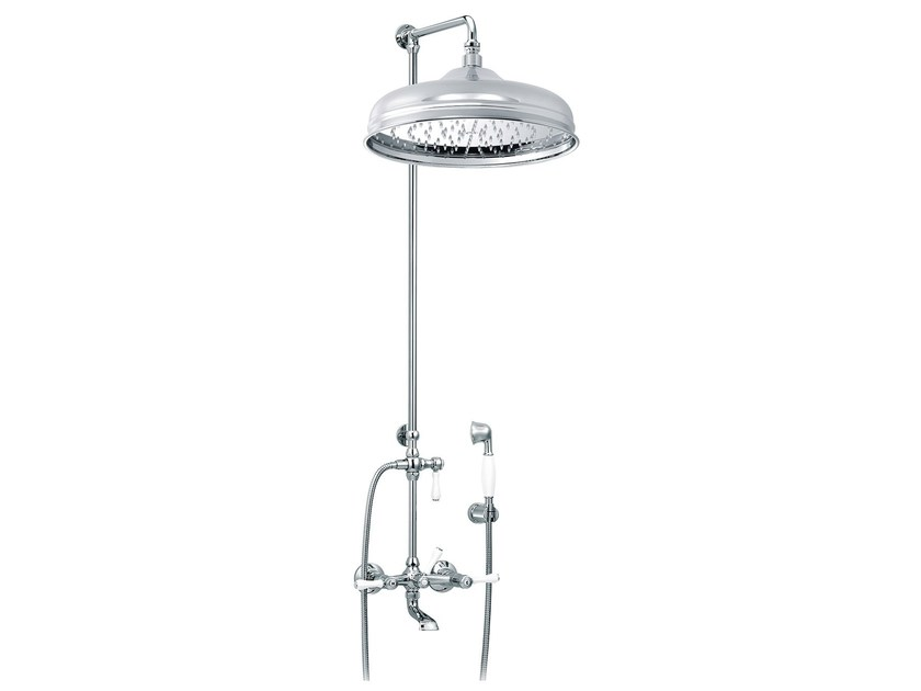 Wall-mounted brass shower panel with hand shower 1935 LIMOGES | Wall-mounted shower panel - rvb