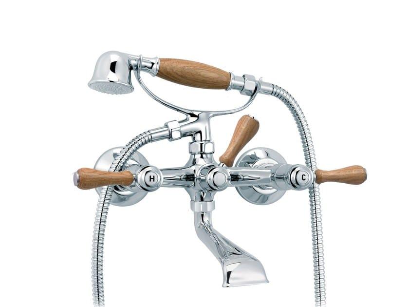 2 hole bathtub mixer with hand shower 1935 WOOD | 2 hole bathtub mixer - rvb
