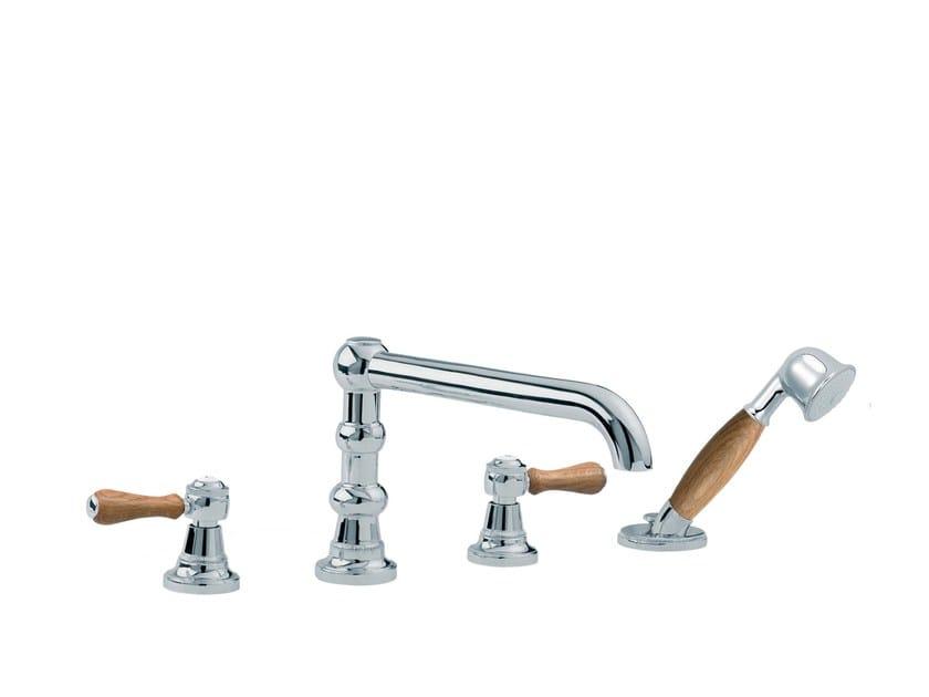 4 hole bathtub set with hand shower 1935 WOOD | 4 hole bathtub set by rvb
