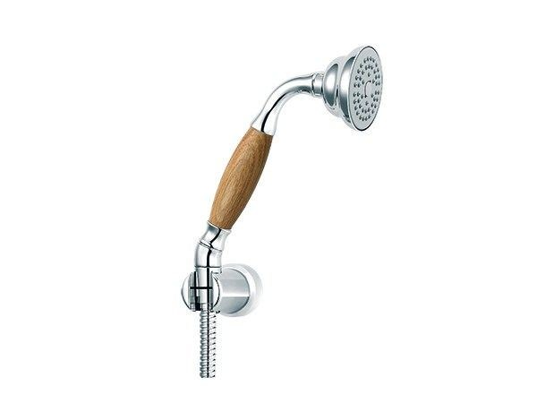 Wall-mounted handshower with hose with anti-lime system 1935 WOOD | Handshower with bracket - rvb