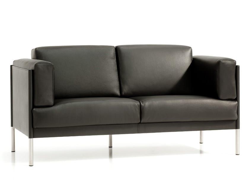 2 seater leather sofa QUADRA   2 seater sofa by Polflex