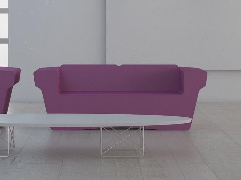2 seater coated foam sofa WINGCHESTER | 2 seater sofa - Stratta