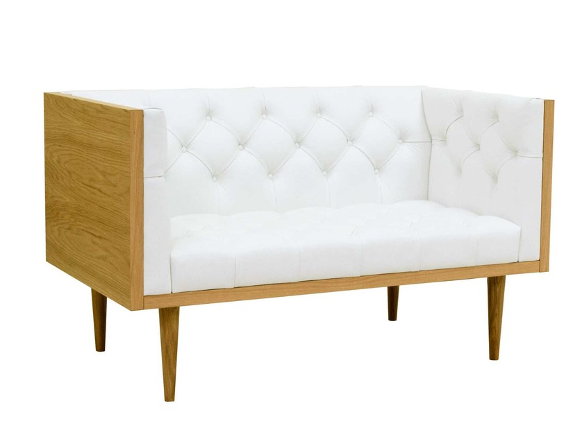 Tufted 2 seater leather sofa WOODY | 2 seater sofa by TARMEKO Pehmemööbel