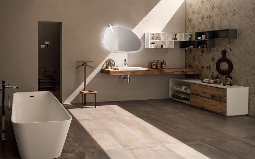 Arredo bagno completo in ceramica 20 quercia by rab for Arredo ufficio tecnico