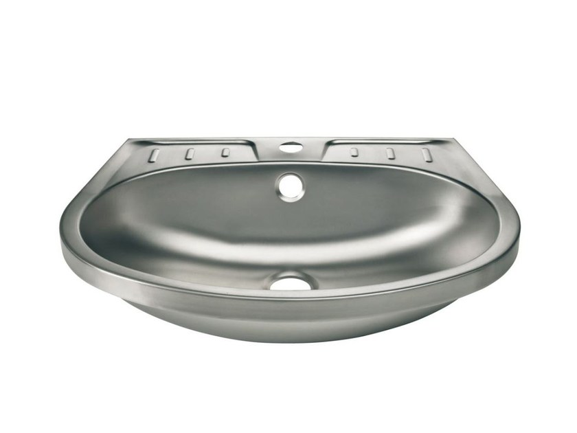 Oval single stainless steel washbasin 2010 | Washbasin by Saniline