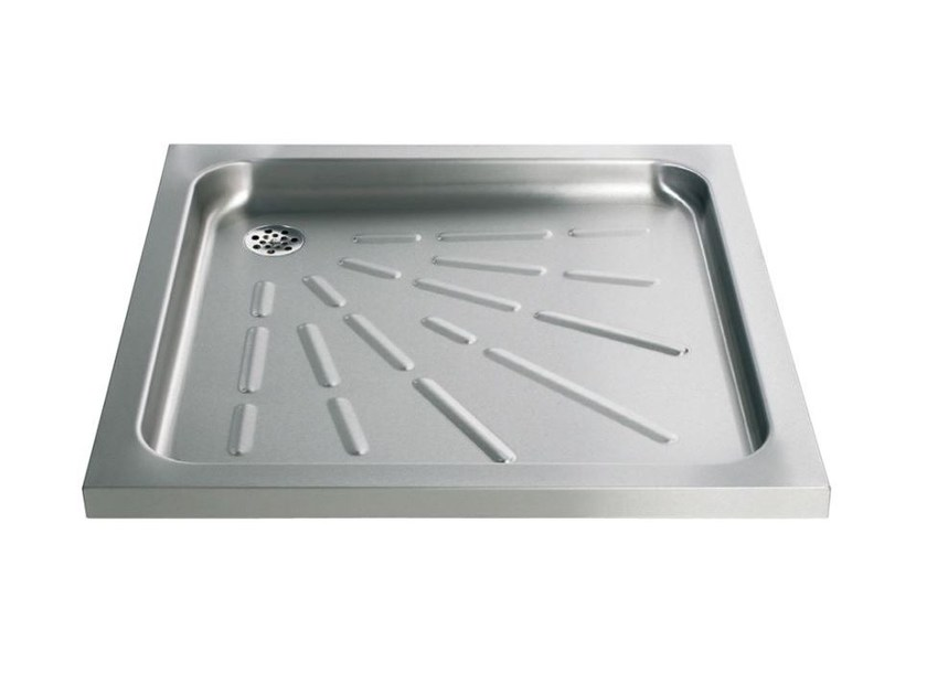 Anti-slip square stainless steel shower tray 2060 | Shower tray by Saniline