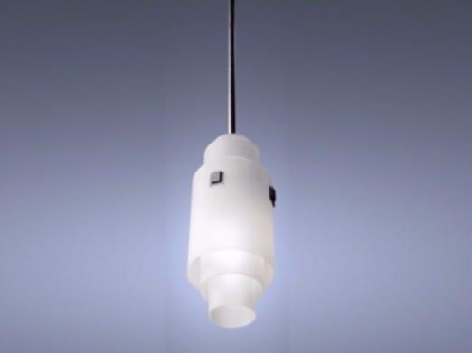 Lampada a sospensione a luce diretta in vetro 215 | Lampada a sospensione - Jean Perzel