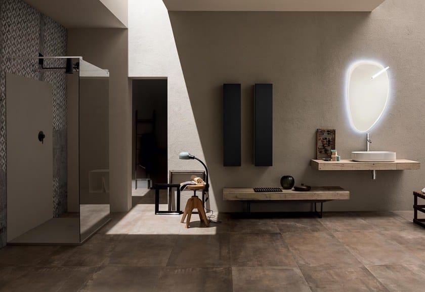 Arredo bagno completo in legno massello 22 old saponato by - Rab arredo bagno ...