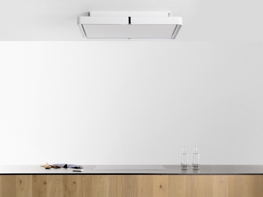 Ceiling-mounted cooker hood with activated carbon filters with integrated lighting 230 CLOUD by NOVY