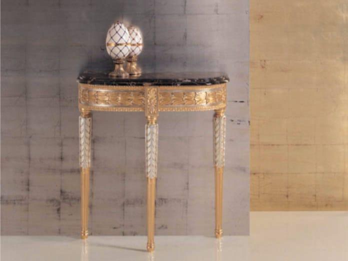 Demilune gold leaf console table 290 | Console table - Rozzoni Mobili d'Arte