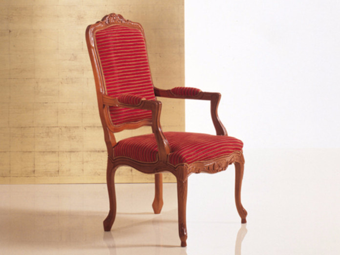 Upholstered chair with armrests 292   Chair with armrests - Rozzoni Mobili d'Arte
