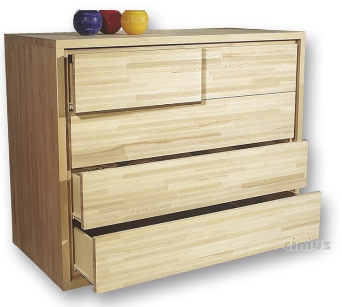 Free standing beech chest of drawers 3+2 | Chest of drawers - Cinius
