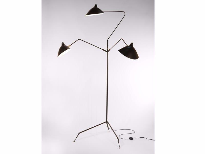 Lampada da terra orientabile in metallo L3B | Lampada da terra - Editions Serge Mouille