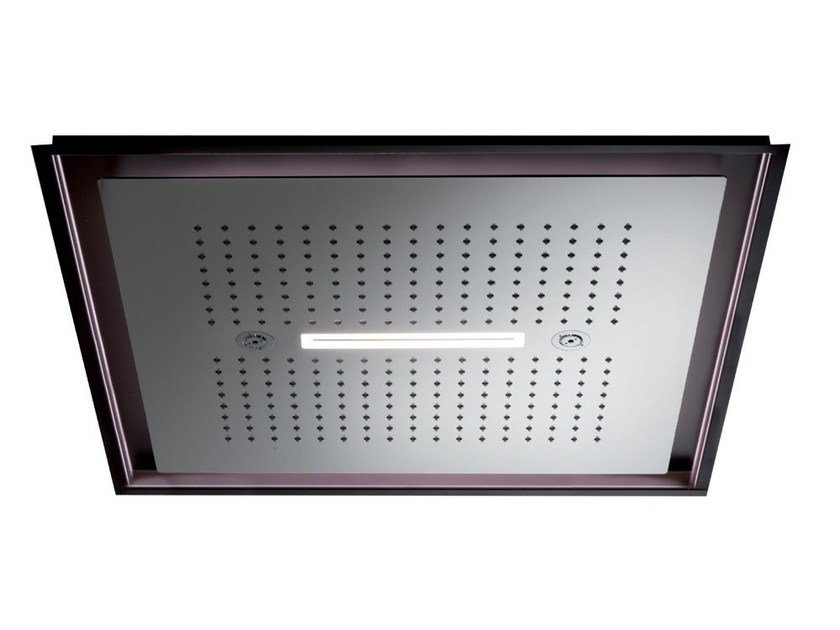 Soffione a led in acciaio inox con 3 getti con illuminazione 3-JETS HEAD SHOWERS | Soffione con illuminazione - NEWFORM