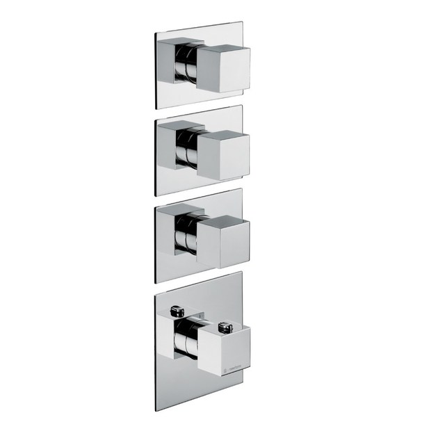 Thermostatic thermostatic shower mixer 3-WAY OUT THERMOSTATIC SELECTORS | Thermostatic shower mixer - NEWFORM