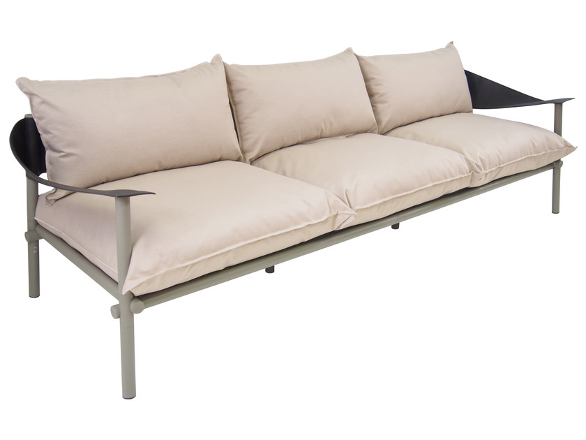 Upholstered 3 seater garden sofa TERRAMARE | 3 seater sofa - EMU Group S.p.A.