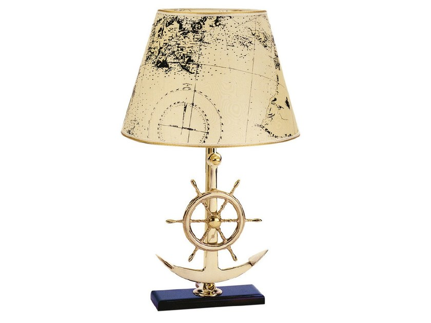 Brass table lamp with fixed arm 3012 | ATLANTE - Caroti