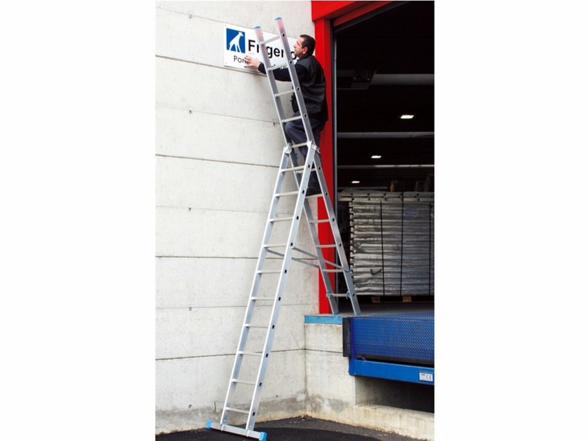 Aluminium heavy duty ladder 3045 – 3045Z | Heavy duty ladder by Frigerio Carpenterie