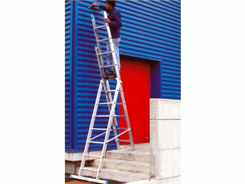 Aluminium heavy duty ladder 3047Z - 3047 | Heavy duty ladder - Frigerio Carpenterie
