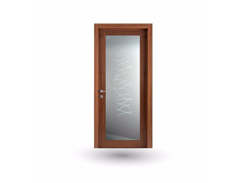 Hinged wood and glass door IMAGO 30V1 NOCE NAZIONALE - GD DORIGO