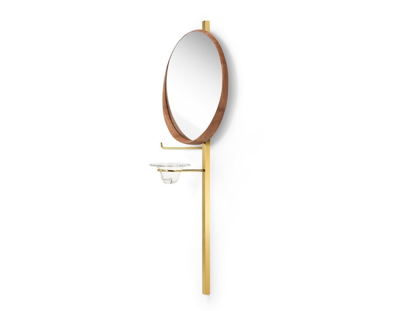 Round wall-mounted framed mirror 345 by Sollos