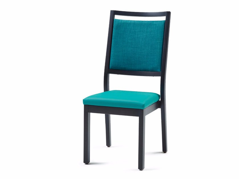Upholstered stackable fabric chair 3520 ST | Stackable chair - Z-Editions