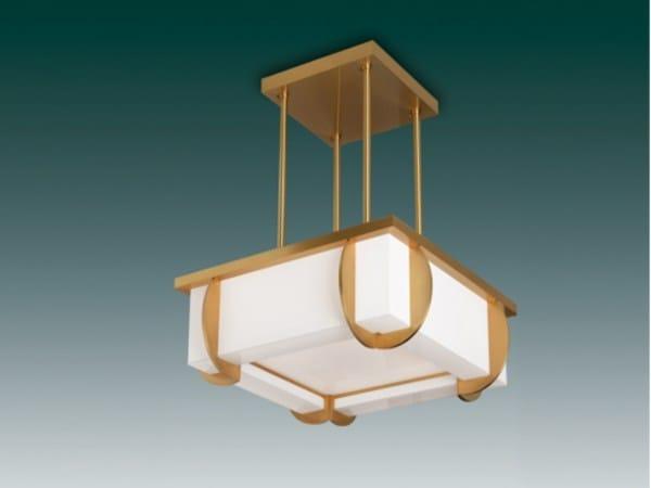 Lampada a sospensione a luce diretta in vetro 353 S | Lampada a sospensione by Jean Perzel