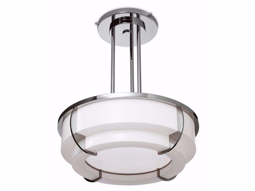 Lampada a sospensione a luce diretta in vetro 354 BIS S | Lampada a sospensione by Jean Perzel