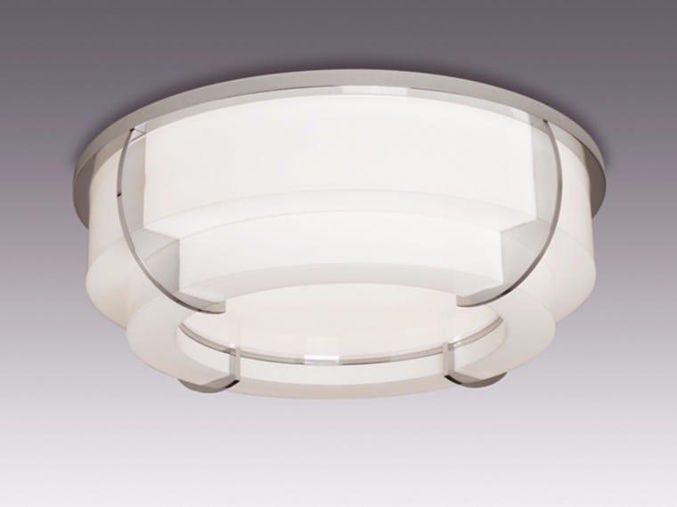 Plafoniera a luce diretta in vetro 354 BIS | Plafoniera - Jean Perzel
